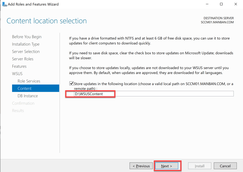 Installation Guide- Software Update Point Role 5