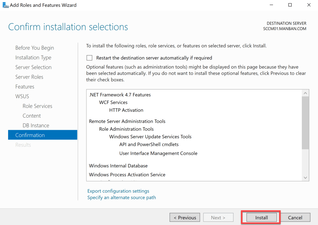 Installation Guide- Software Update Point Role 7