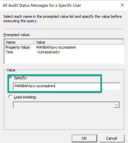 Track SCCM user against editing and modification on console 2