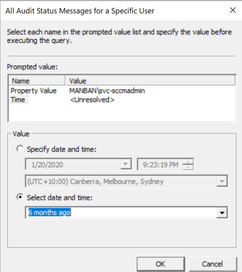 Track SCCM user against editing and modification on console 4