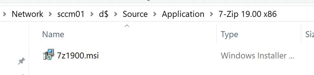Deploy 7-Zip Application through SCCM 1