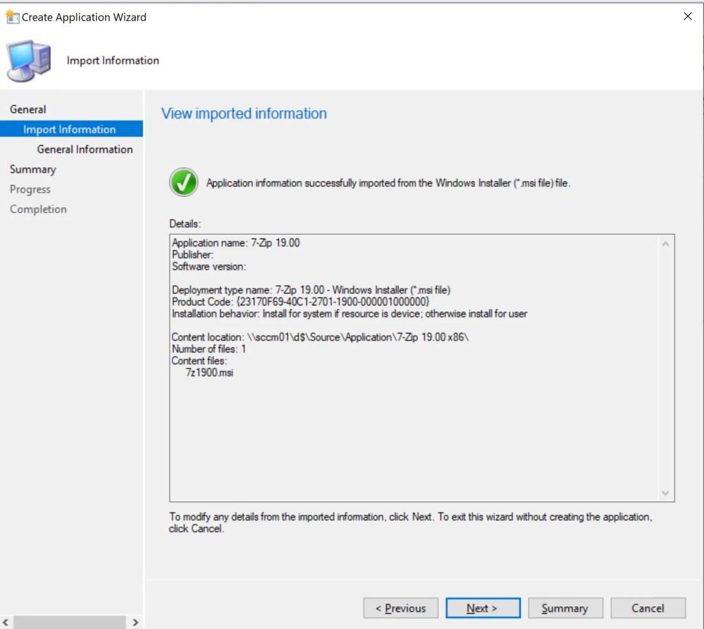 Deploy 7-Zip Application through SCCM 5