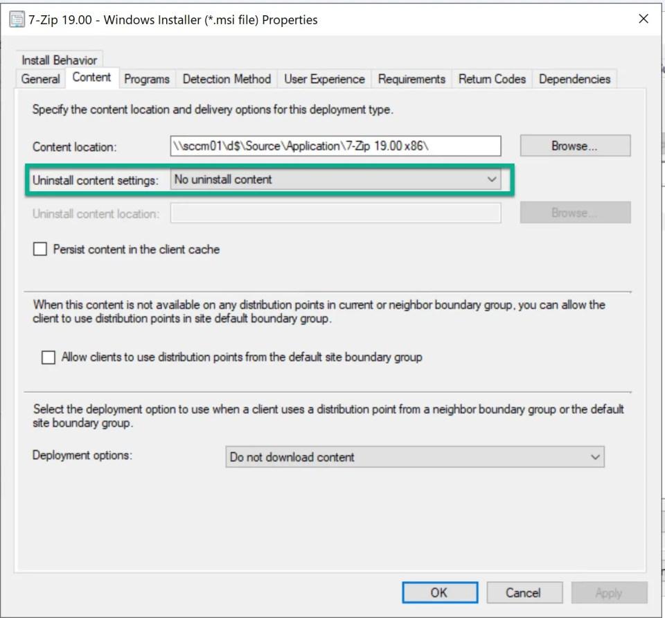 Deploy 7-Zip Application through SCCM 11