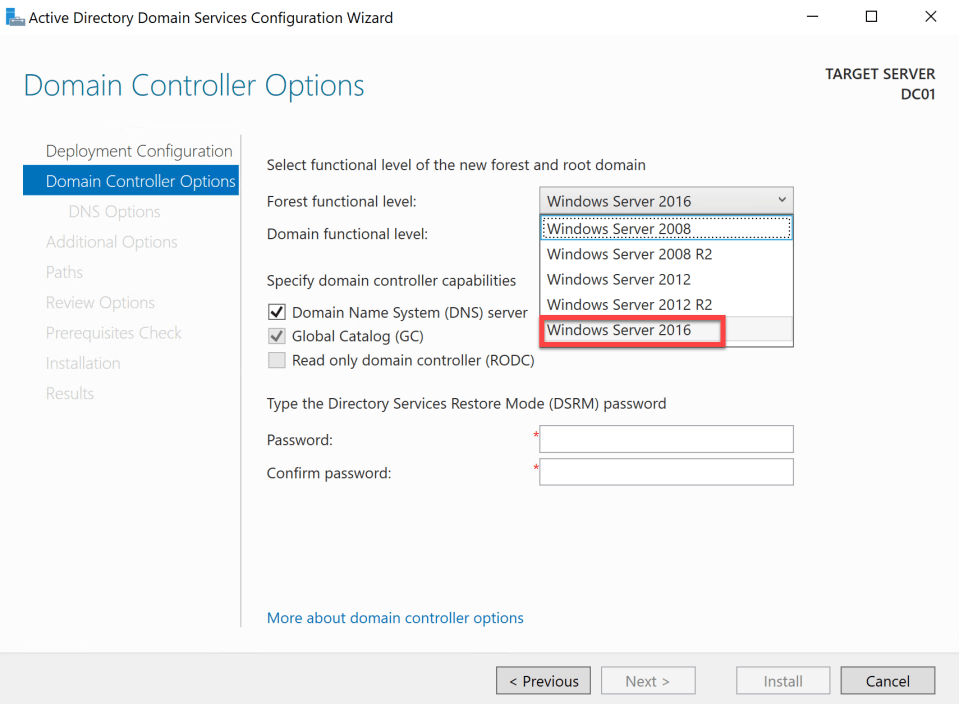 Install Active Directory Server 15