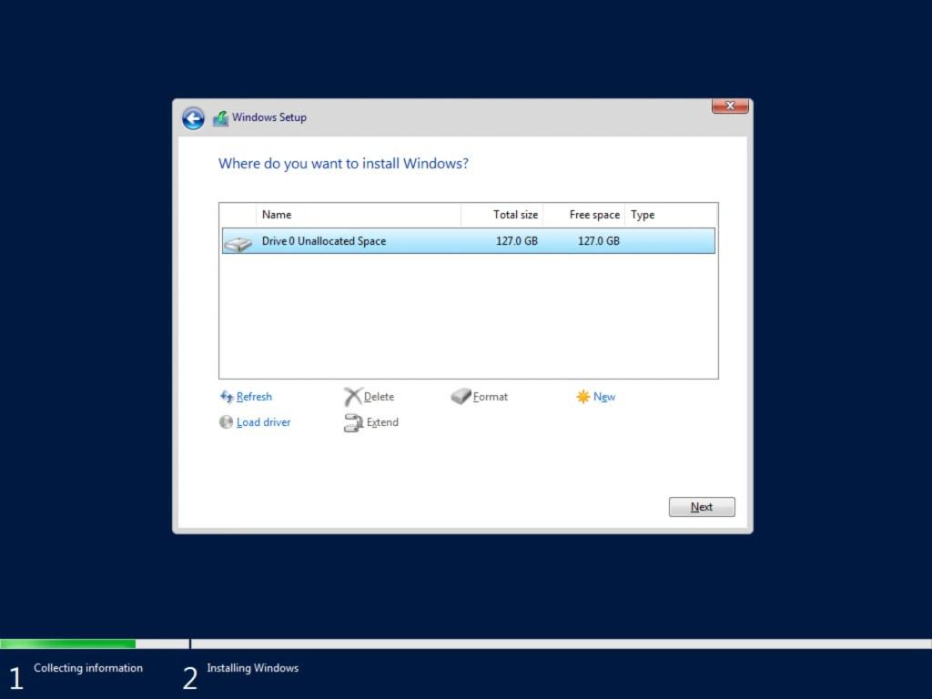 Step by step Windows Server 2019 installation 1