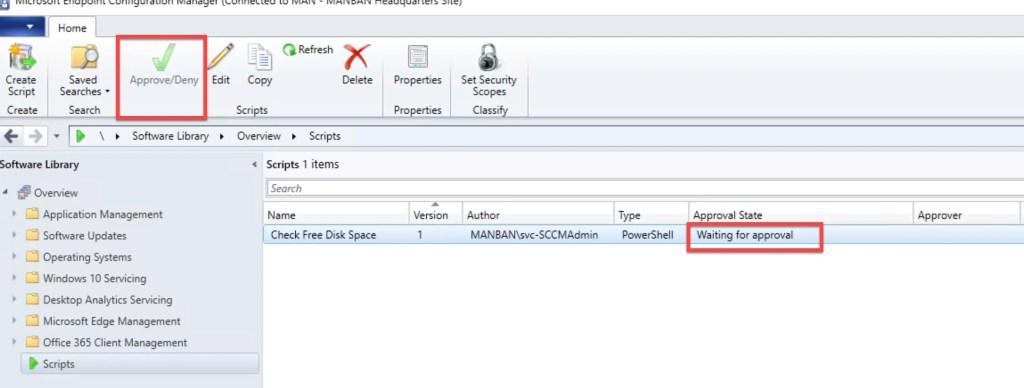 Create and run PowerShell Scripts through SCCM 6