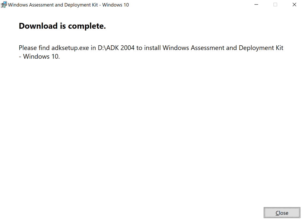 How to update Windows ADK 2004 on SCCM Server 7