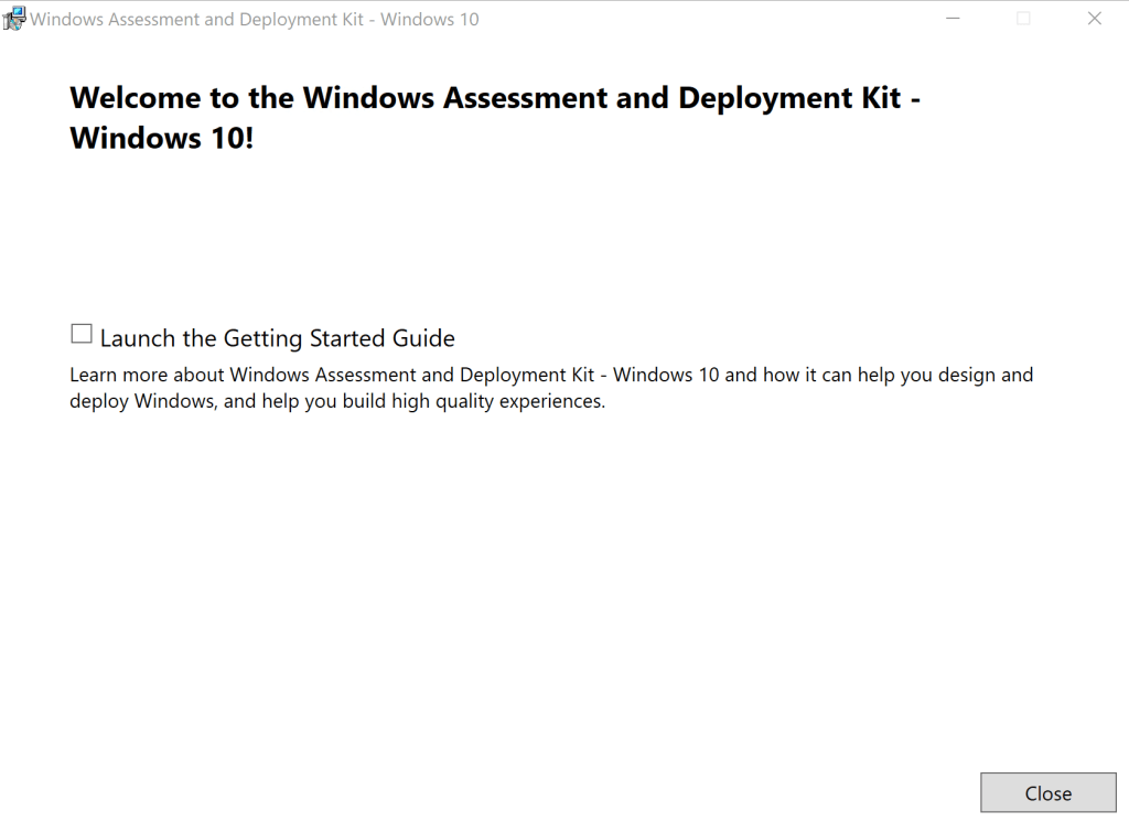 How to update Windows ADK 2004 on SCCM Server 12