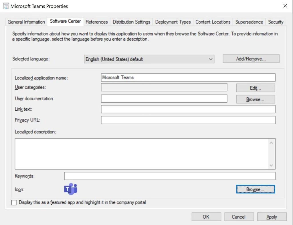 How to Deploy Microsoft Teams through SCCM 5