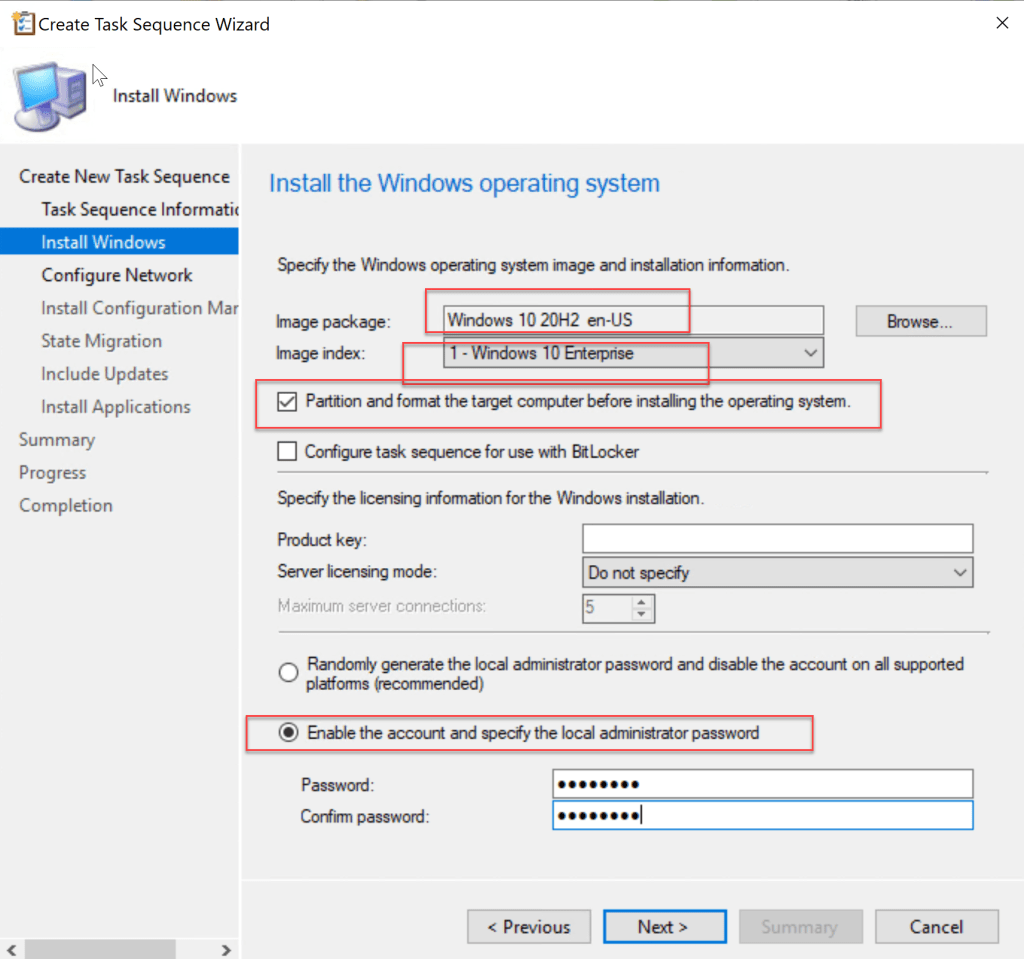 Deploy Windows 10 20H2 task sequence using SCCM 10