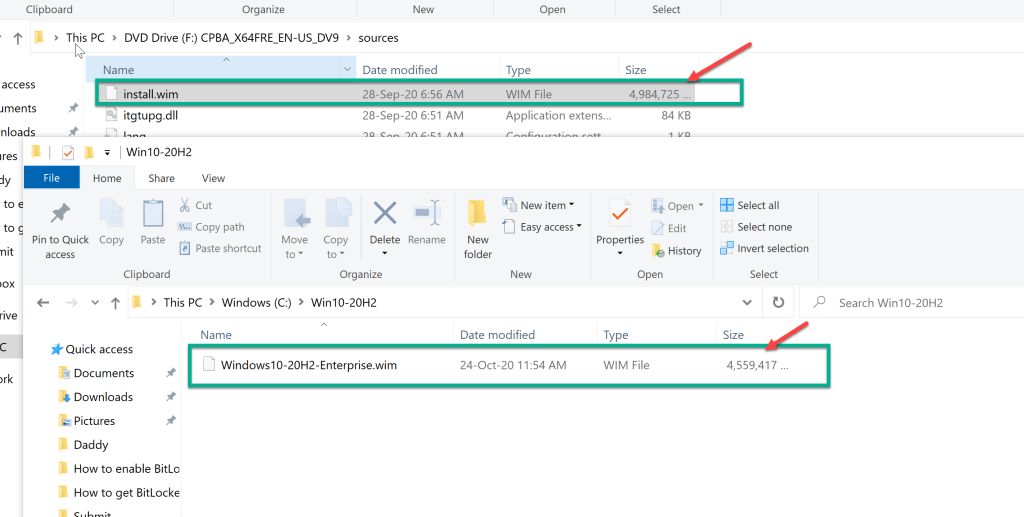 How to extract enterprise wim from ISO - Windows 10 3