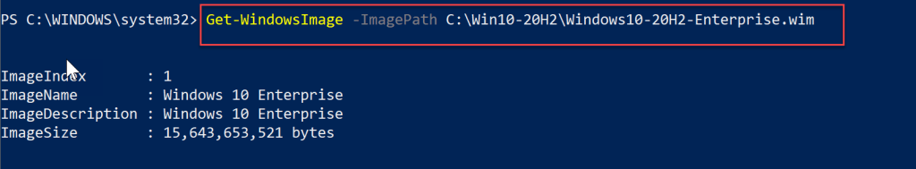 How to extract enterprise wim from ISO - Windows 10 4