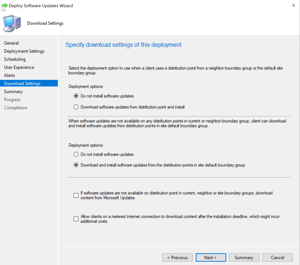 Update Windows 10 from 1909 to 20H2 using SCCM Feature Update 21