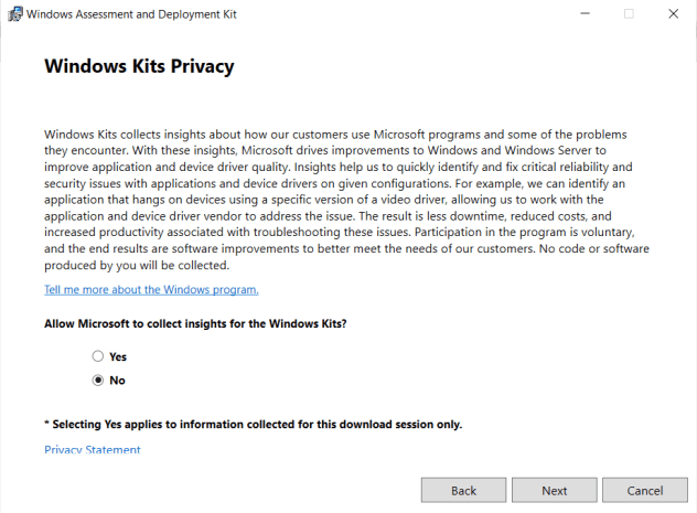 Download and install the Windows ADK 11 on SCCM Server 2