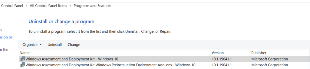 Download and install the Windows ADK 11 on SCCM Server 6