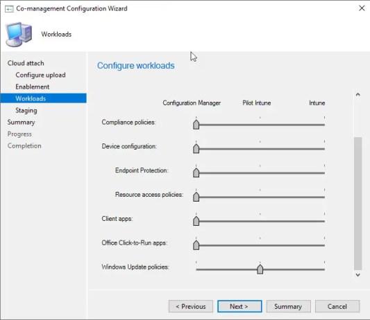 Configure workloads