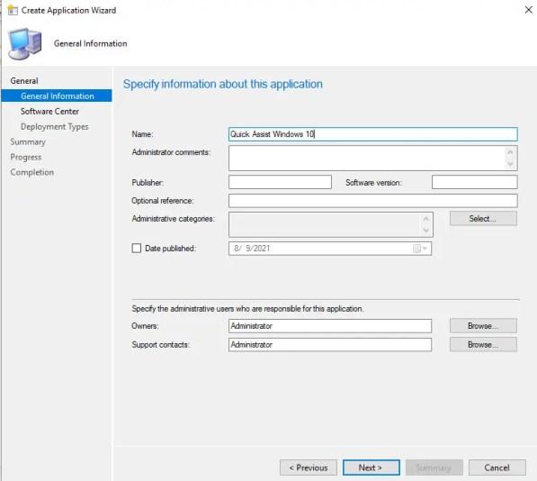 Deploy Quick Assist using SCCM 6