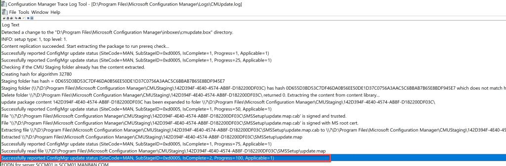 SCCM 2107 – Step by step upgrade guide for ConfigMgr 2107 7