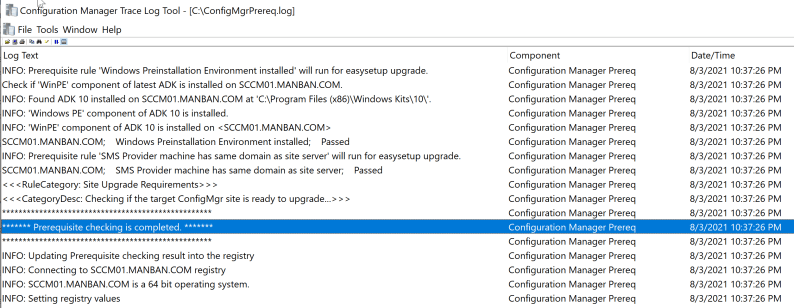 SCCM 2107 – Step by step upgrade guide for ConfigMgr 2107 8