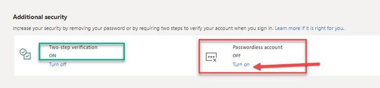 passwordless account