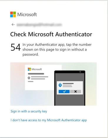 Check Microsoft Authenticator