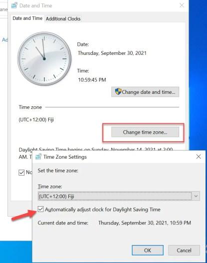 Automatically adjust clock for Daylight Saving Time