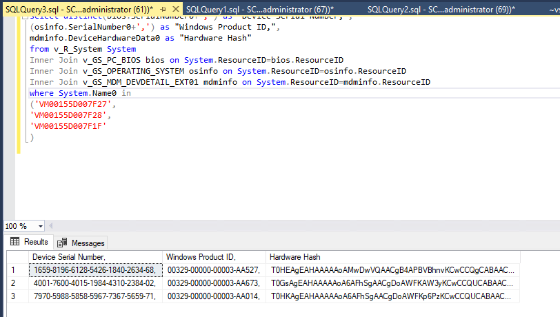 How to import Windows AutoPilot devices using SCCM Report and SQL query 1