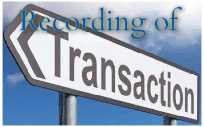 Recording of Transaction