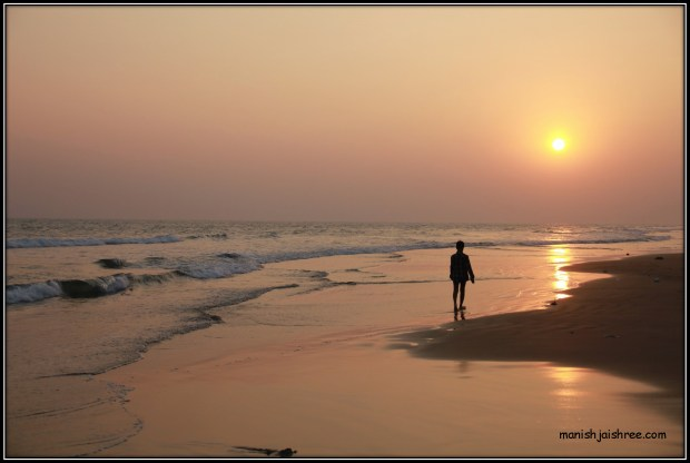 Sunset at Chandrabhaga beach, Konark
