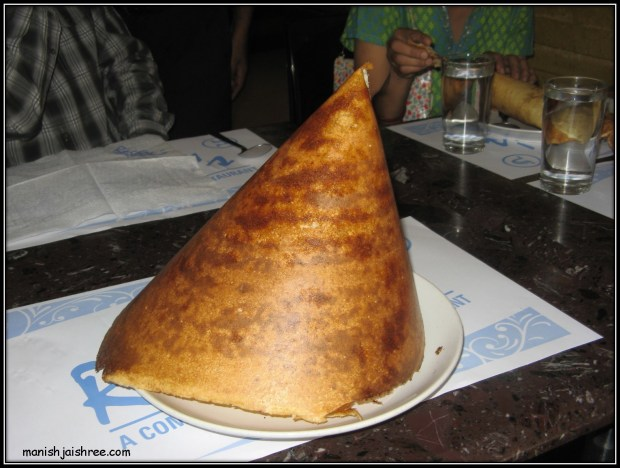 Pyramid shaped Dosa