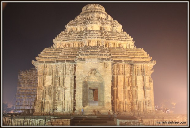 Konark Temple as seen during the Night-Time