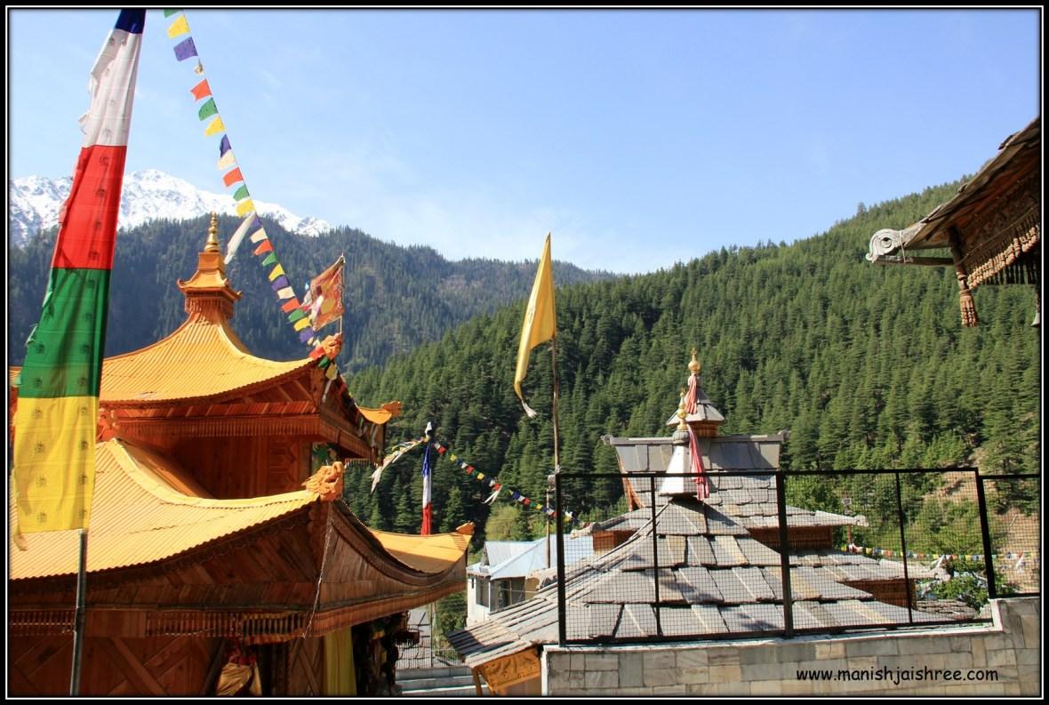 Horizontal and Vertical Prayer Flags in Sangla Kanda, Himachal