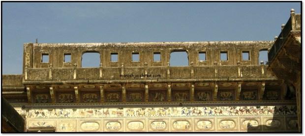 The terrace, Chokhani Haveli, Mandawa