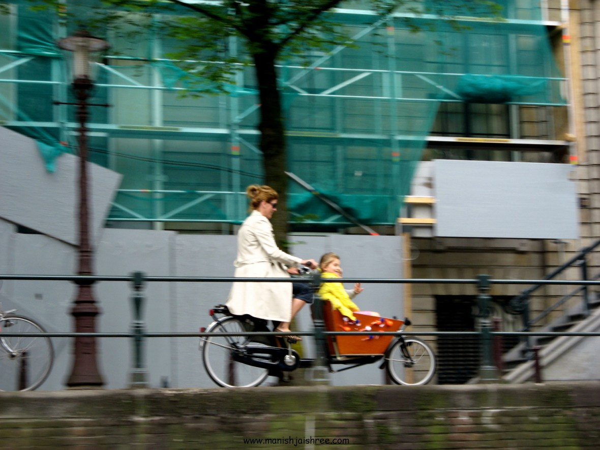 Bicycle ride, Amsterdam
