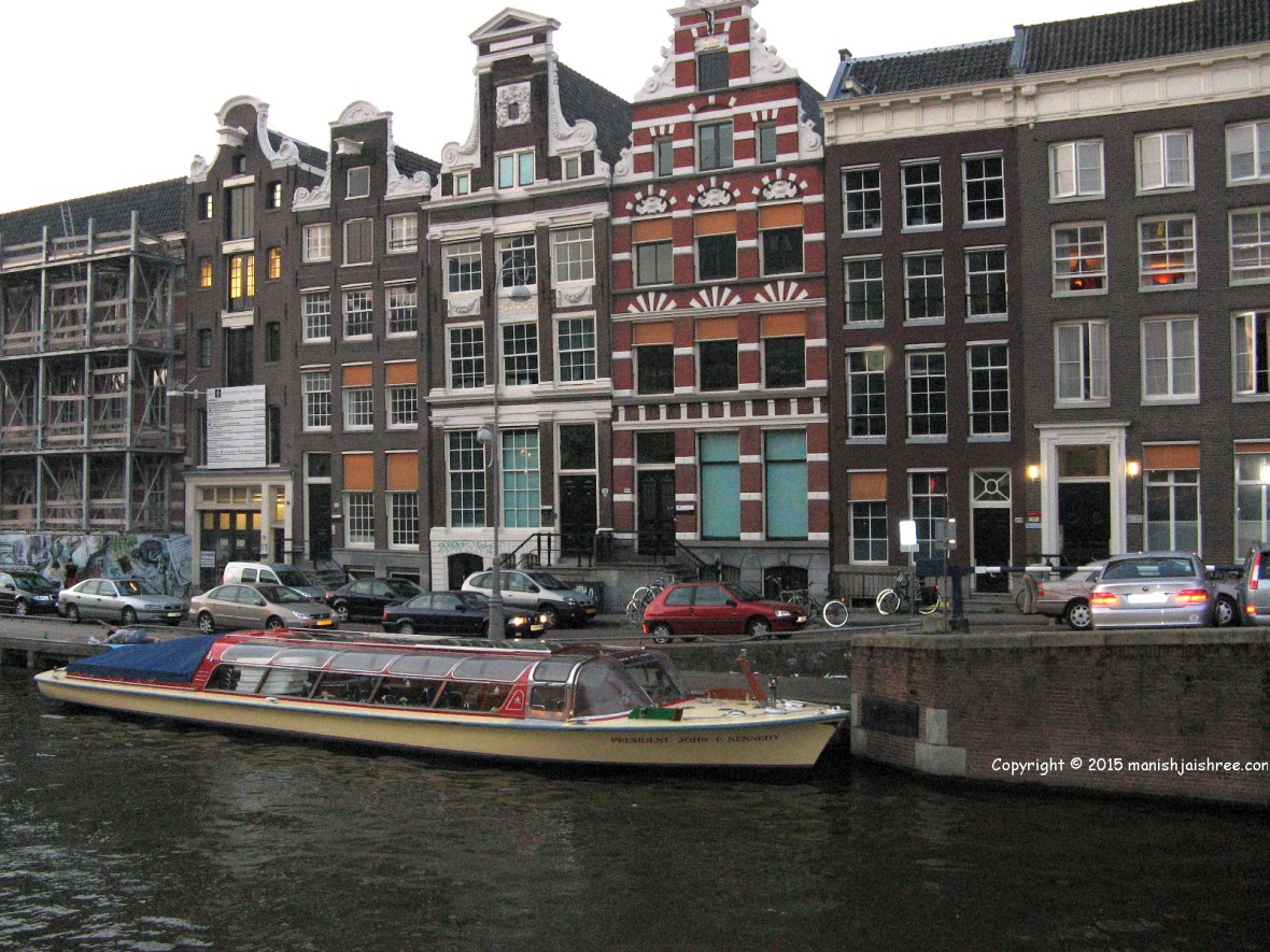 Compactly packed canal houses, Amsterdam