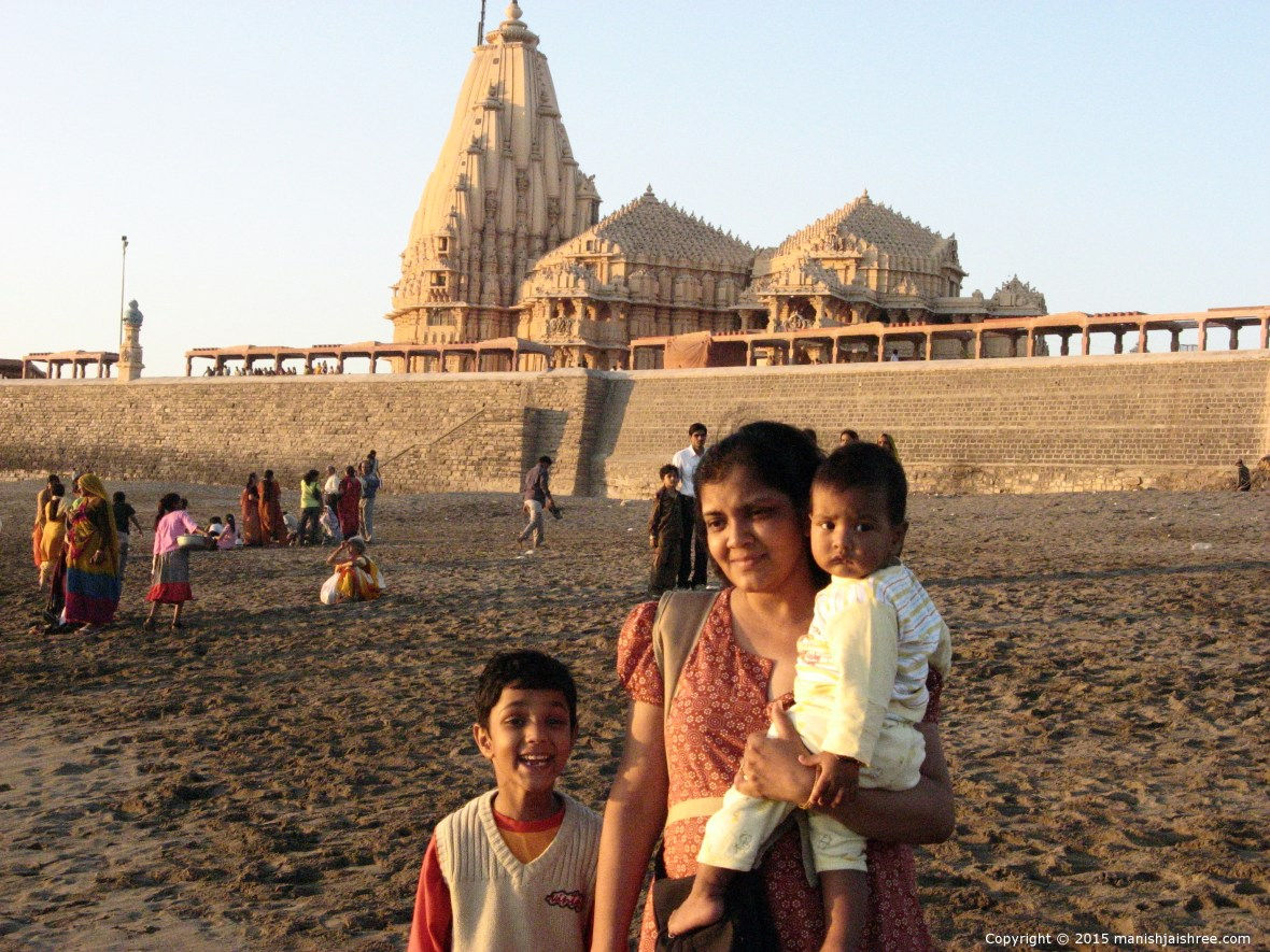 Somnath temple in background