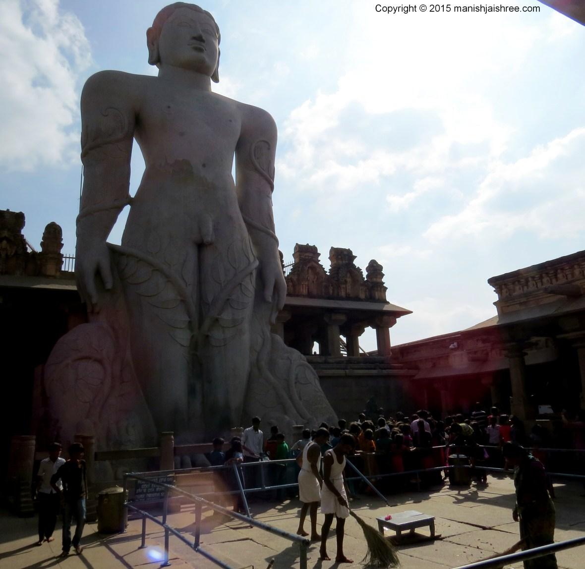 Bahubali Statue at Shravanabelagola