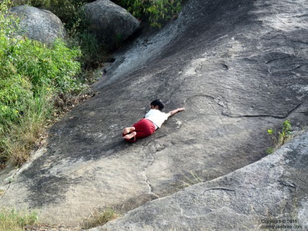 My slide, Shravanabelagola