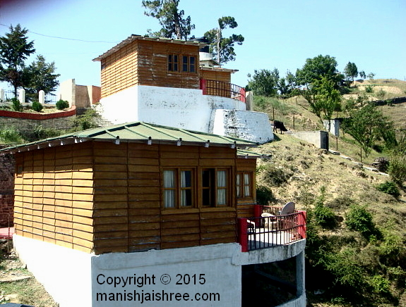 A view of cottages at KMVN, Deenapaani