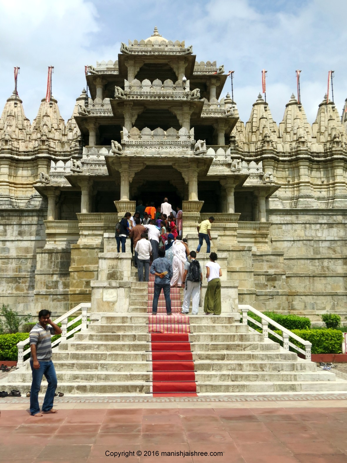 Let us enter in! Ranakpur Temple