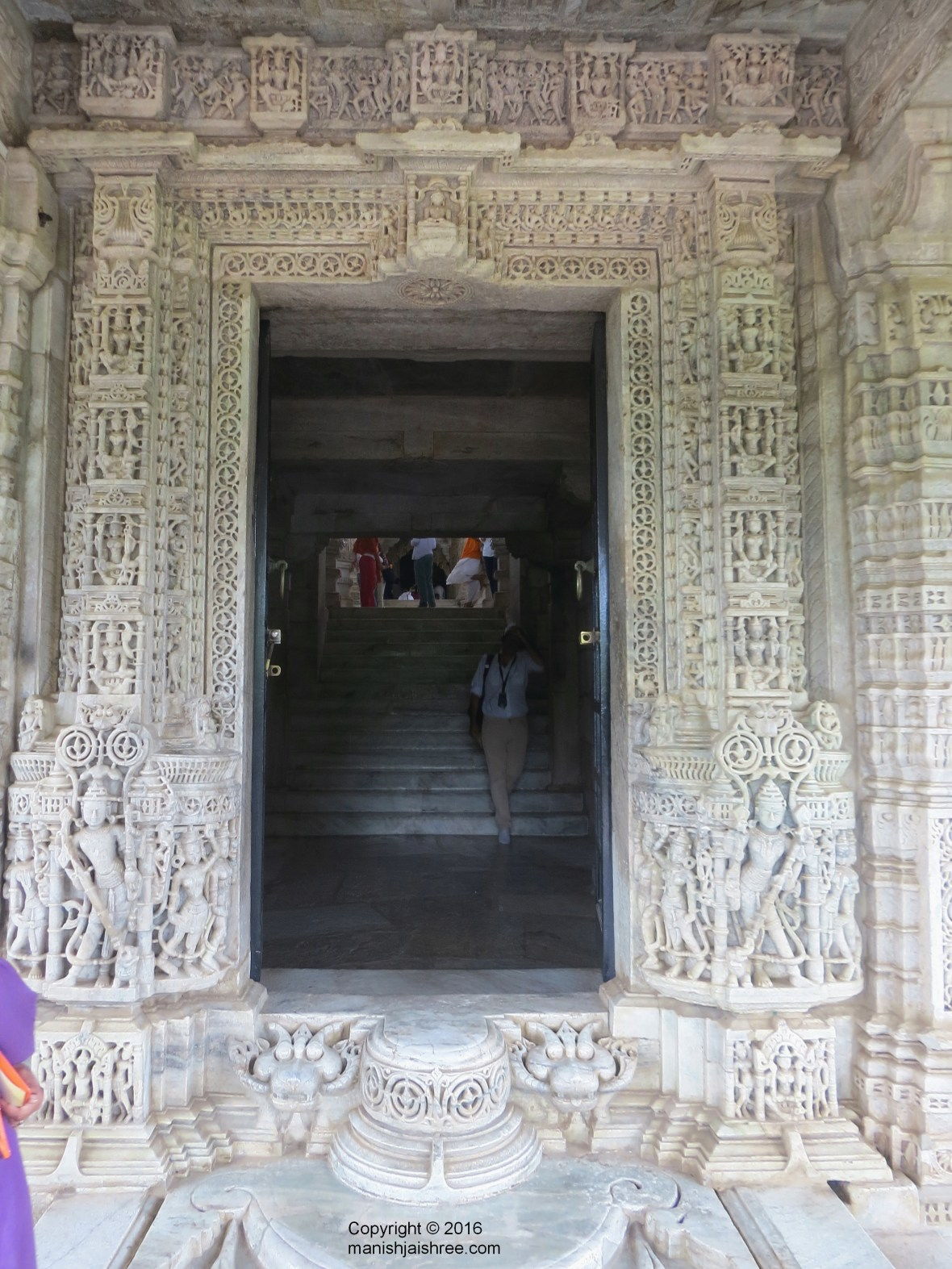 Intricately carved entrance of Ranakpur Temple