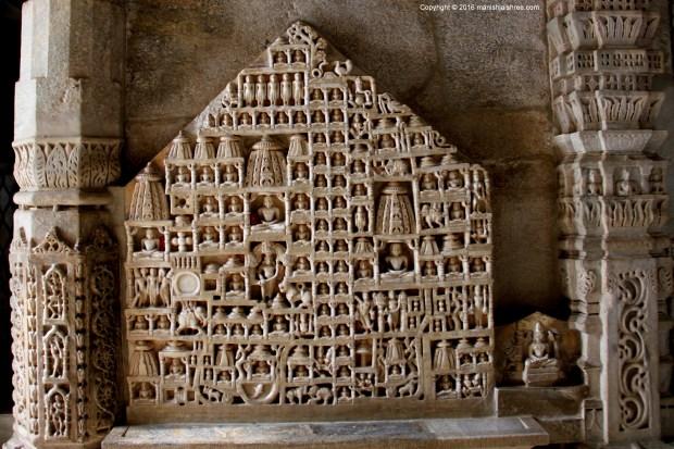 Jambūdvīpa Plaque, Ranakpur Temple