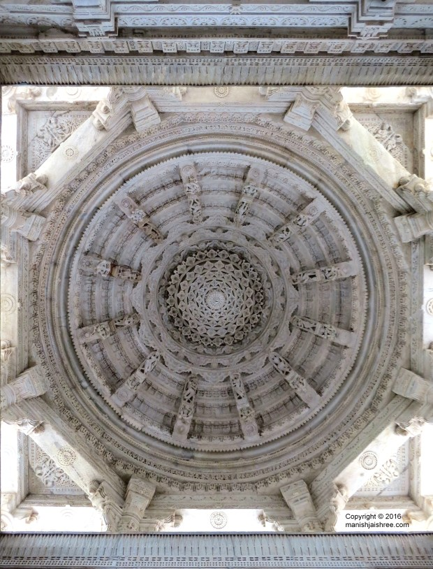 Thousand Petaled Lotus in Meghnad Mandap, Ranakpur Temple