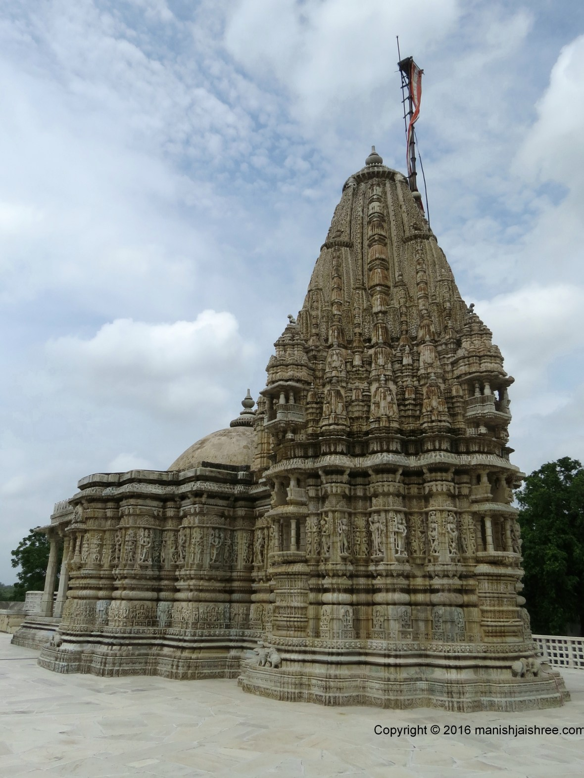 One last look at the Temple of Parshvanath Bhagwan, Ranakpur
