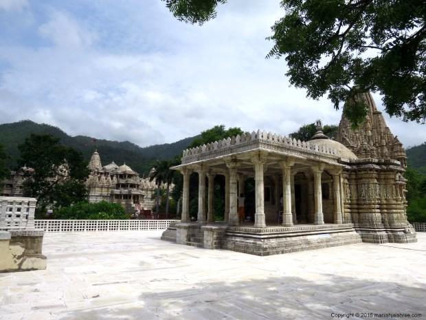 Lord Parshvanath Temple in Ranakpur, main temple in background