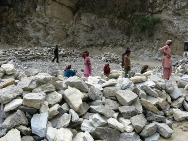 Landslide near Nachni