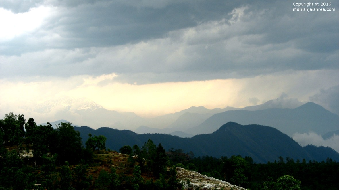 View of Himalayas from Chaukori