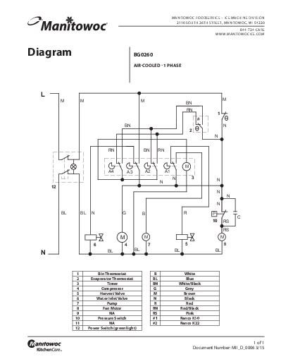 ice cube machine wiring diagram