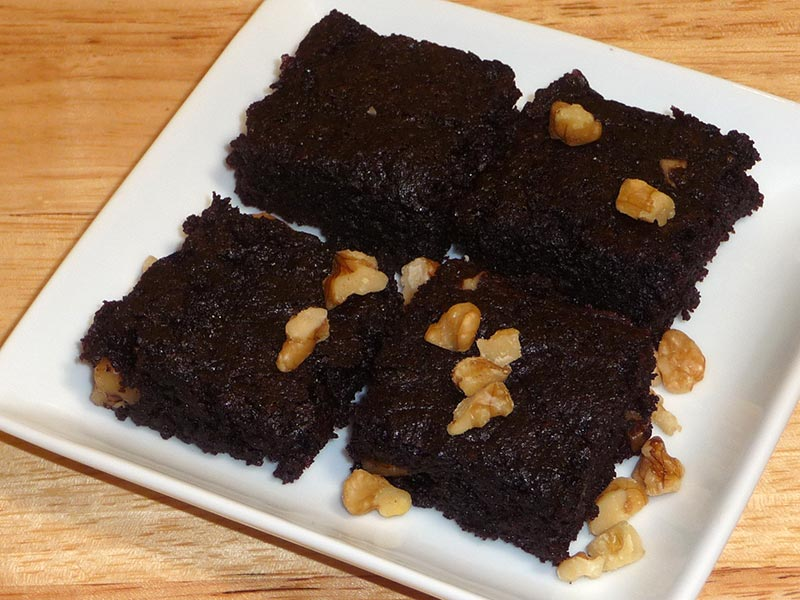 Chocolate Brownie (eggless and vegan) by Manjula