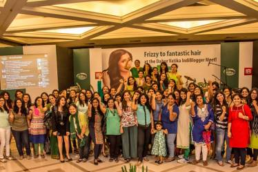 Indiblogger Meet, #Frizzfreehair, Vatika bloggers meet, Hair Oil